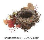 bird's nest in autumn. hand... | Shutterstock .eps vector #329721284