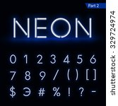 blue glowing font from a neon... | Shutterstock .eps vector #329724974