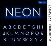 blue glowing font from a neon...   Shutterstock .eps vector #329724977