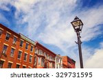 shops along main street usa | Shutterstock . vector #329731595