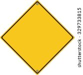 traffic empty yellow symbol... | Shutterstock .eps vector #329733815
