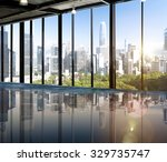urban scene skyline morning... | Shutterstock . vector #329735747