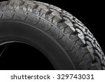 off road tire isolated on black ... | Shutterstock . vector #329743031