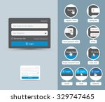 graphical user interface ui gui ... | Shutterstock .eps vector #329747465