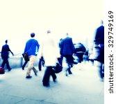 business people walking... | Shutterstock . vector #329749169