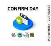 confirm day icon  vector symbol ...