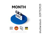 month icon  vector symbol in...