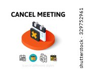 cancel meeting icon  vector...