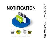 notification icon  vector...