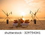 maldives resort sunset. relax... | Shutterstock . vector #329754341