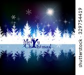 snow background with fir tree.... | Shutterstock .eps vector #329754419