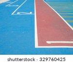 starting positions and running... | Shutterstock . vector #329760425