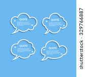 quote outline cloud speech... | Shutterstock .eps vector #329766887