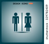 bathroom sign | Shutterstock .eps vector #329782409