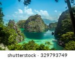 beautiful scenery of coron ... | Shutterstock . vector #329793749