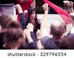 photo of crowd protesting... | Shutterstock . vector #329796554