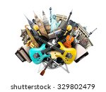 music collage  musical... | Shutterstock . vector #329802479