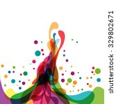 colored splashes in abstract... | Shutterstock .eps vector #329802671