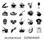 food icons | Shutterstock .eps vector #329804009