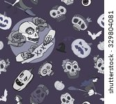seamless halloween pattern | Shutterstock .eps vector #329804081