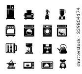 kitchen appliances icons | Shutterstock .eps vector #329804174