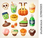 set of colorful halloween party ... | Shutterstock .eps vector #329805005