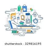 illustration of vector modern... | Shutterstock .eps vector #329816195