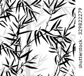 Seamless Pattern. Bamboo Leaf...