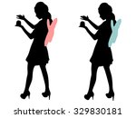 young woman in fairy dress... | Shutterstock .eps vector #329830181
