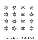 snowflake winter set  vector    | Shutterstock .eps vector #329830661