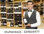 waist up portrait of a handsome ... | Shutterstock . vector #329835977