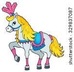 circus horse theme image 1  ... | Shutterstock .eps vector #329837087