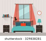 interior of a bedroom | Shutterstock .eps vector #329838281