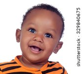 Adorable African Baby Smiling...