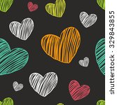hearts color hand drawn vector... | Shutterstock .eps vector #329843855