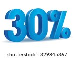 vector of 30 percent in white... | Shutterstock .eps vector #329845367