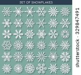 winter vector snowflakes of... | Shutterstock .eps vector #329847491