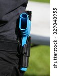 training gun in holster of law... | Shutterstock . vector #329848955