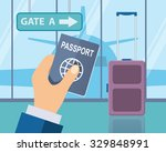 travel  business trip concept.... | Shutterstock .eps vector #329848991