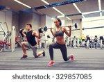 sport  bodybuilding  lifestyle... | Shutterstock . vector #329857085
