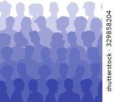 seamless pattern of people... | Shutterstock .eps vector #329858204