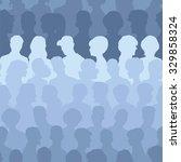 seamless pattern of people...   Shutterstock .eps vector #329858324