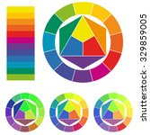 color wheels isolated on white