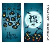 halloween background of... | Shutterstock .eps vector #329859371