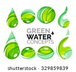 set of abstract eco water icons ... | Shutterstock .eps vector #329859839