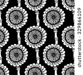 seamless floral doodle... | Shutterstock . vector #329866109