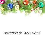 christmas ball decoration and... | Shutterstock . vector #329876141
