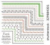floral brushes for illustrator. ... | Shutterstock .eps vector #329884301