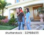 attractive diverse family... | Shutterstock . vector #32988655
