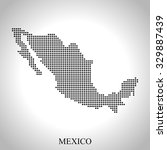 map of mexico | Shutterstock .eps vector #329887439